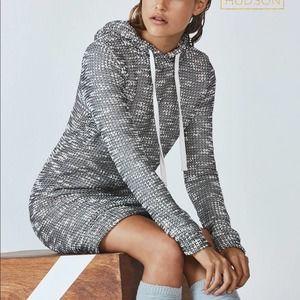 Fabletics Yukon Sweater Dress Hooded Black/White S
